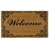 "Cheap Rubber-Cal ""Classic American Welcome Mat Coir Matting, 18 by 30-Inch"