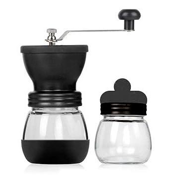 Manual Molinillo de café Molino de mano de café Cafetera Granos de café Pimienta Especias Molinillo Tanque Molinillo portátil Máquina: Amazon.es: Hogar