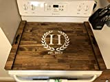 Rustic Stove Top Cover, Wooden Tray For Stove, Personalized Stove Cover, Stove Tray, Decorative Tray