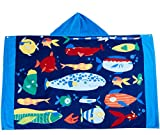 Wowelife Hooded Towel Kids Beach Towel for Bath, Pool and Beach, 100% Cotton 30 x 50 inch Extended Length for Boys and Girls, Fits 4-12 Years Old or Anyone under 60 Inch(Fish Fun)