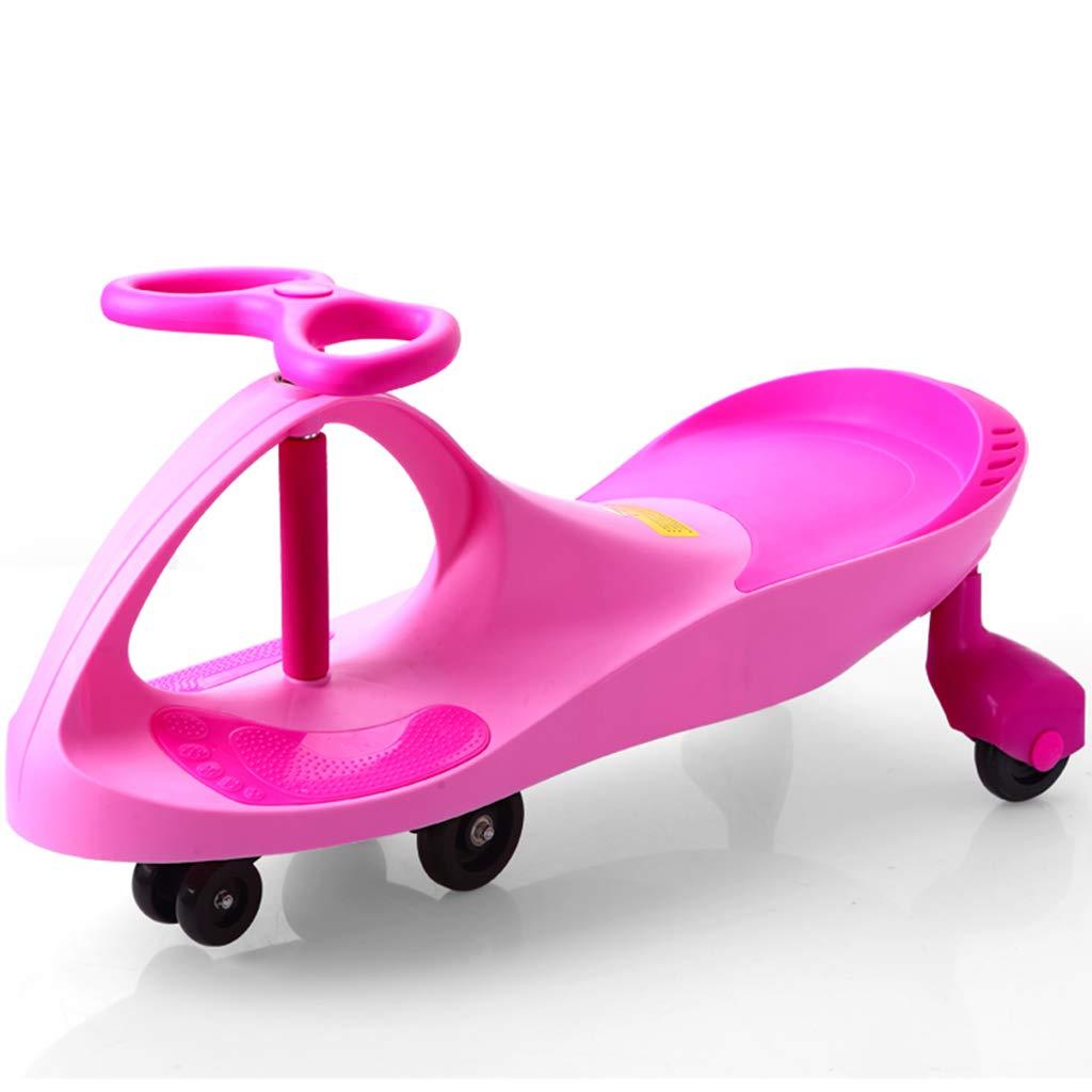 LiRuShop Bobbycars & Rutscher Twist Auto Kinder Twist Auto Baby Mädchen Spielzeug Swing Auto 1-3-6 Jahre Alten Roller (Farbe   Rosa, Größe   80  30cm) Rosa 8030cm