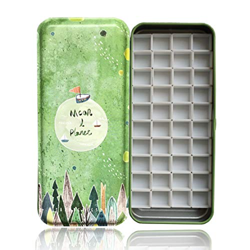 HOME AID Artist 40 Pcs Half Pans with Magnet for Watercolor Palette Gouache Painting Travel Tin Box Color Refills - Palette Magnet Artists