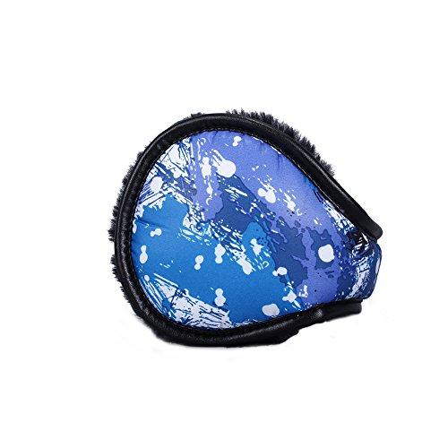 Classic Fleece Earmuffs Foldable Ear Muffs Winter Accessory Outdoor EarMuffs For Men Women Blue