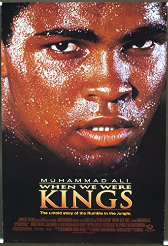 When We Were Kings (1996) Original One Sheet Poster (27x41) MUHAMMAD ALI DOCUMENTARY Film supervised by LEON GAST