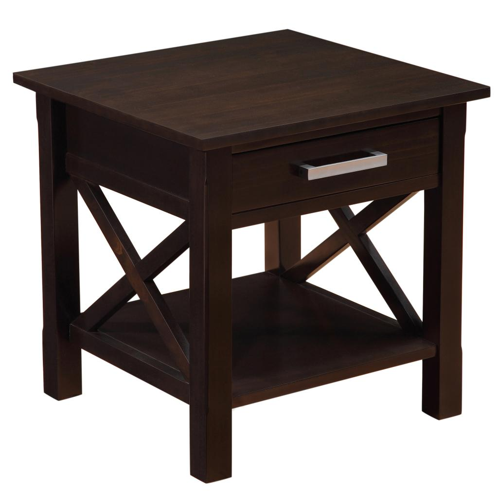 Kitchen Side Table: Amazon.com: Simpli Home Kitchener End Table, Dark Walnut