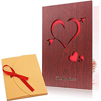cupids arrowlove pattern wood valentines day love card handmade the best valentines day greeting card to