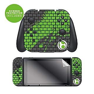 """Controller Gear Nintendo Switch Skin & Screen Protector Set - Joy-Con - Super Mario - """"Yoshi Bricks"""" - Nintendo Switch"""