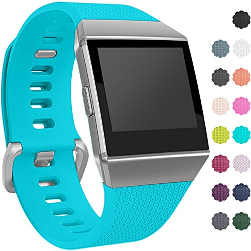 Wepro Fitbit Ionic Watch Band, Bands Replacement Sport Strap Accessory for Fitbit Ionic Smartwatch, Buckle, Teal , Large