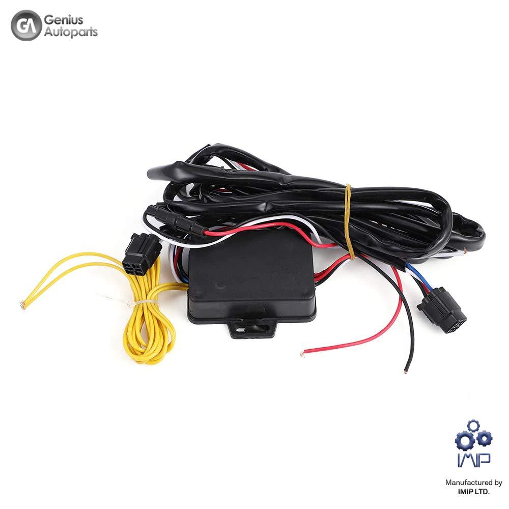 2 unidades color blanco y amarillo Juego de faros diurnos LED DRL Genius GN-2476