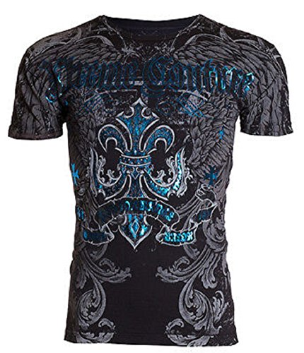 Xtreme Couture AFFLICTION Men T-Shirt SANDSTONE Wings Tattoo Biker UFC – DiZiSports Store