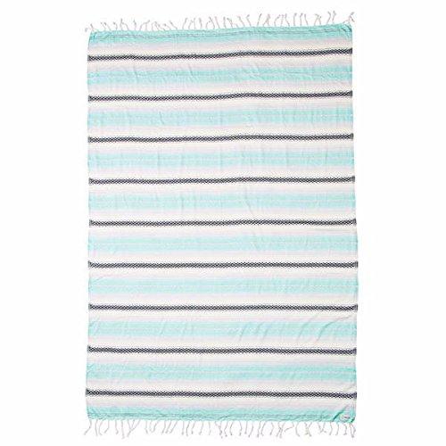 Sand Cloud Mint Baja Extra Large (XL) Beach Towel Blanket Tapestry Wall Hanging - 100% Turkish Cotton As Seen on Shark Tank