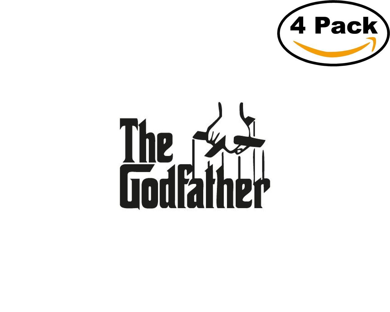the godfather 4 Stickers 4x4 Inches Car Bumper Window Sticker Decal canvasbylam