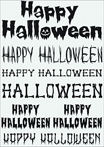 Halloween Collage Sheet - Little B 100758 Rub Ons, Happy Halloween
