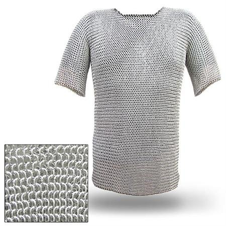 Battle Ready Chain Mail Body Armor Habergeon X-Large