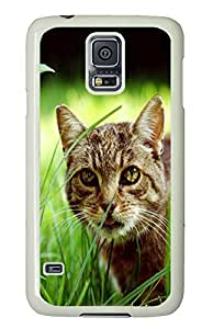 Samsung Galaxy S5 water proof case Old Cat Animal PC White Custom Samsung Galaxy S5 Case Cover