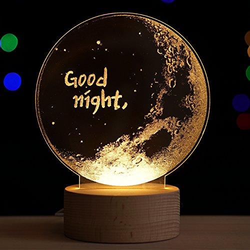 Nachtlicht Nachtlicht Nachtlicht Lampe kreative 3D-Mond leuchtet ein. Geburtstag Geschenk Valentinstag Frau zu senden, Lunar Laterne Schalter B0786GMT3K | Shopping Online  d73810