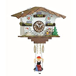 Trenkle Kuckulino Black Forest Clock Swiss House with Quartz Movement and Cuckoo Chime TU 2021 SQ