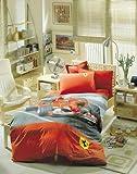 Amazing Ferrari Race Boutique Bedding Sheet Set Twin Size for Kids Boys Childrens
