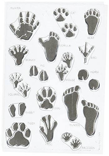 Wild Animal Footprints (Hero Arts Animal Prints Stamp Set, Clear)