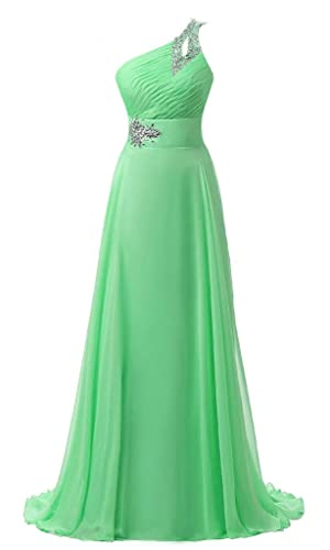 RohmBridal Women's One Shoulder Chiffon Formal Evening Dress