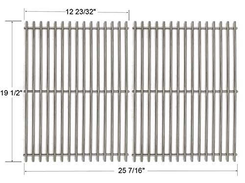 - GS7528 Stainless Steel Cooking Grates Replacement For Weber Genesis E and S series gas grills Models, Set of 2