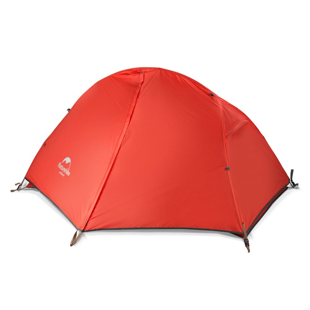 Naturehike Backpacking Tent for 1 Person Camping Hiking Lightweight Waterproof one Person Tent with Footprint (210T Red) by Naturehike