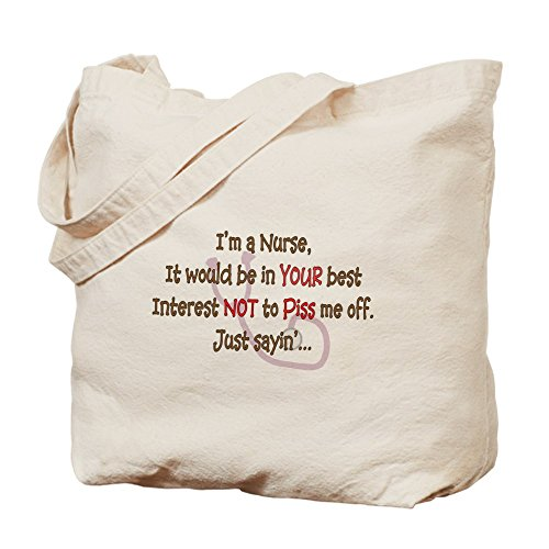 Cafepress–nurse humor–Borsa di tela naturale, tessuto in iuta
