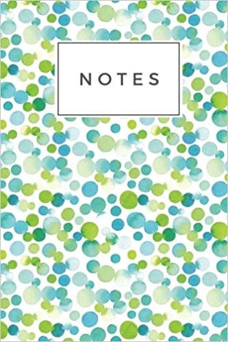 graphic regarding Journal Cover Printable known as Notes: Noticed Watercolor 120 Blank Included Webpage Softcover