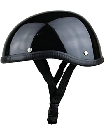 Motorcycle Half Helmet Retro Pilot German Chopper Prince Motorcycle Helmet for Cruiser DOT Certification Helmet Half Face with Gift Glasses,black,L59~60cm