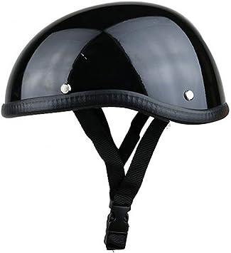 Motorcycle Half Helmet Retro Pilot German Chopper Prince Motorcycle Helmet for Cruiser DOT Certification Scooter Helmet Half Face Helmet,carbon,M57~58cm