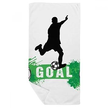 DIYthinker Pena de Deportes fútbol Fútbol Texto Toalla de baño Suave paño de Facecloth 35X70Cm: Amazon.es: Hogar
