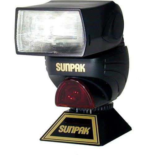 Sunpak PZ-040M Ultra-Compact Digital TTL Dedicated Flash for Minolta Digital and 35mm Cameras (Black)
