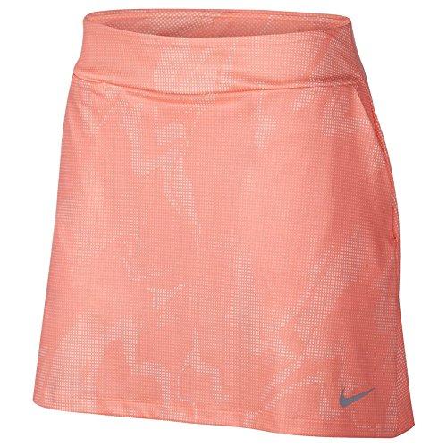 Nike Dry Knit 16.5 Summer Print Golf Skort 2018 Women Crimson Pulse/Flat Silver Large ()