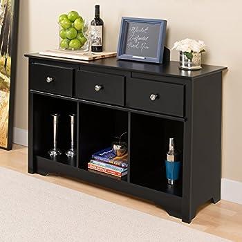 Amazon Com Black Occasional Console Sofa Table Bookshelf