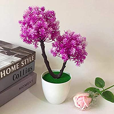 Rubyyouhe8 Decoration,DIY Ornament,Artificial Flower Plant Tree Potted Bonsai Hotel Garden Party Desktop Ornament Display Model: Toys & Games