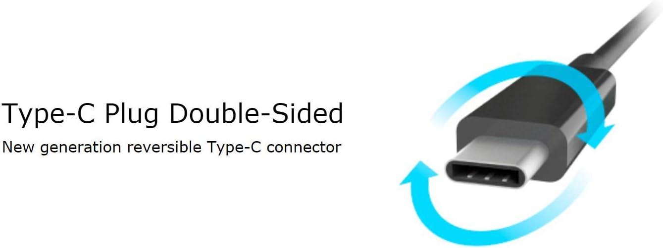 Akasa AK-CBCA05-15BK Plug /& Play 15 cm USB 3.1 Type-C USB-C to DisplayPort Converter Black