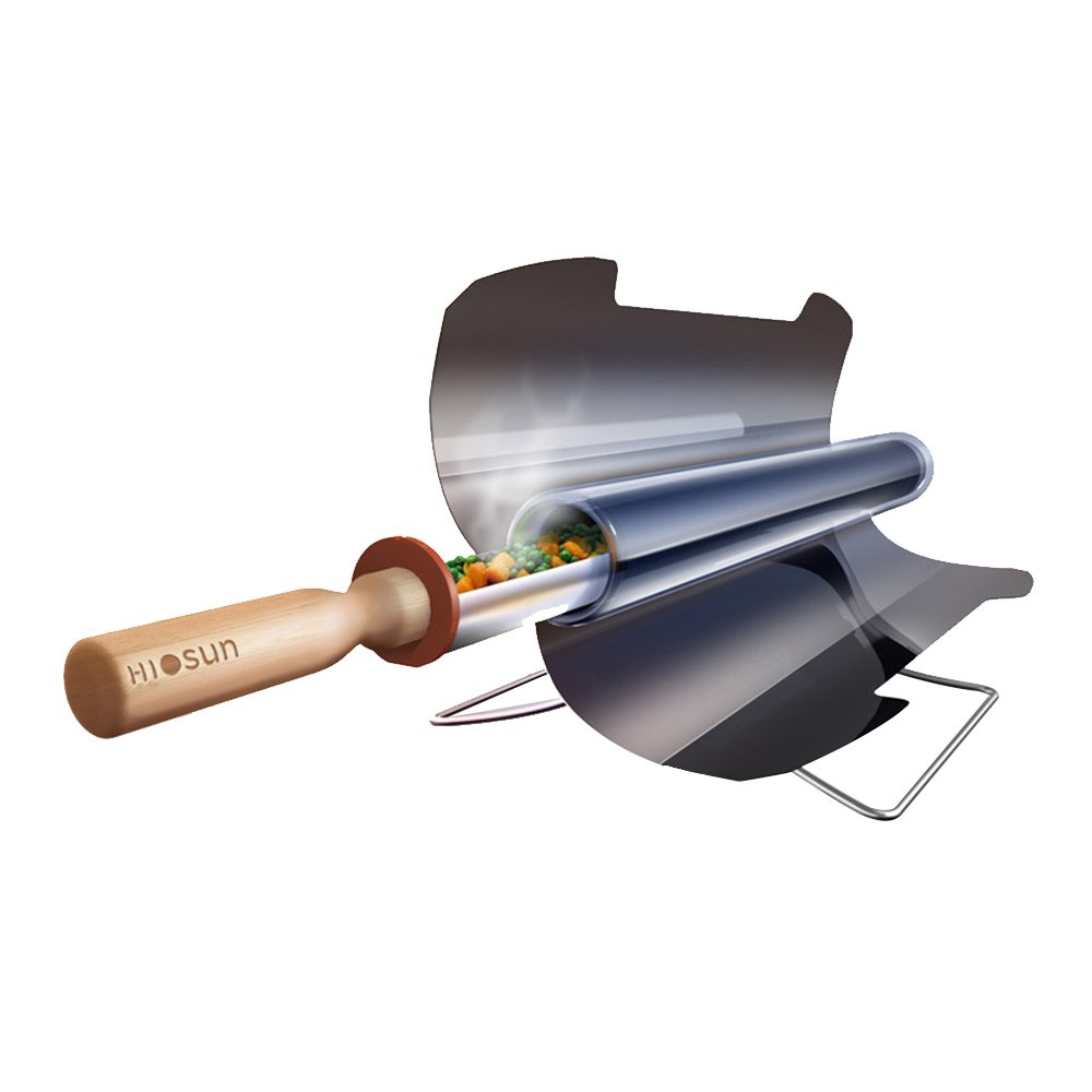 Vogvigo Solargrill tragbarer Grill BBQ Grill Solar BBQ Cooker, Solar Grill Edelstahl Ofen Nahrungsmittelgrad rauchfrei faltbar für Reise Camping im Freien - 3-5 Personen (61cm20cm13cm)