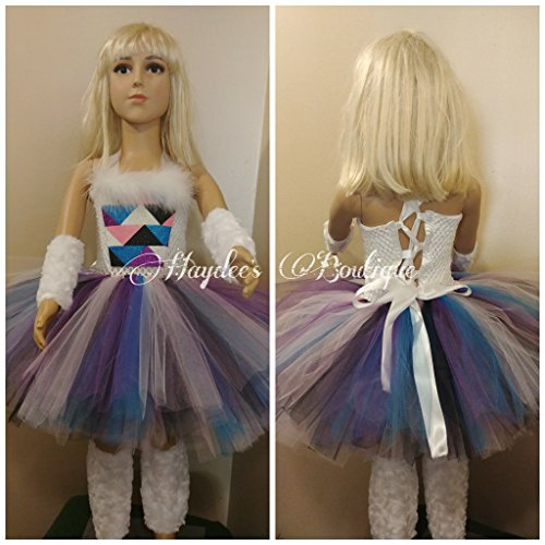 Abominable Snow Girl Tutu Dress Set by Haydee's Boutique