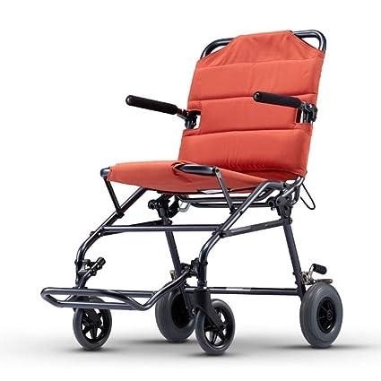 Silla de ruedas Rampas Scooter Trolley De Viaje para Personas Mayores De Peso Ligero Plegable Puede