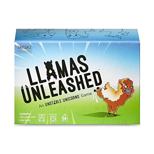 Llamas Unleashed Card Game – from The Creators of Unstable Unicorns – A Strategic Card Game & Party Game for Adults…