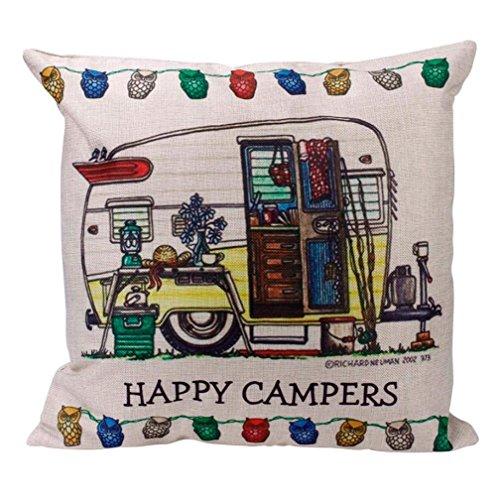 Pillow Case,JUNKE Pillow Case Sofa Waist Throw Cushion Cover Home Decor (B)