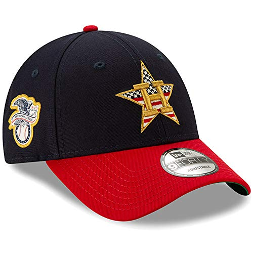 (New Era Houston Astros 2019 Stars & Stripes 4th of July 940 9FORTY Adjustable Cap Hat)
