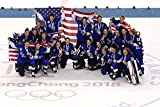 USA Olympic Women's Ice Hockey Team Sports Poster Photo Limited Print Celebrity Athlete Size 8x10 #1