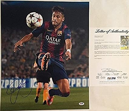 550038f95 Image Unavailable. Image not available for. Color  Neymar Signed Barcelona  16x20 Soccer ...