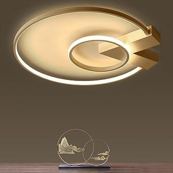 Modern LED 2 Ring Deckenleuchte Ultraslim Design Deckenlampe Metall Runde  Dekoration Decke Leuchte Deckenbeleuchtung Lampe Für