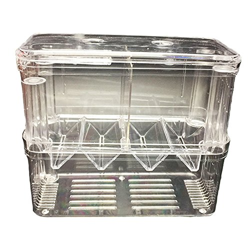 pranovo Aquarium Breeding Box Breeder Tank Hatchery Isolator for Small Baby Fish Shrimp Clownfish Marine Fishes by pranovo