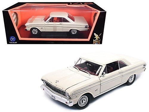 (NEW 1:18 ROAD SIGNATURE SCOLLECTION - WHITE 1964 FORD FALCON Diecast Model Car By Road Signature )