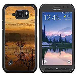 LECELL--Funda protectora / Cubierta / Piel For Samsung Galaxy S6Active Active G890A -- Sunset Lake --