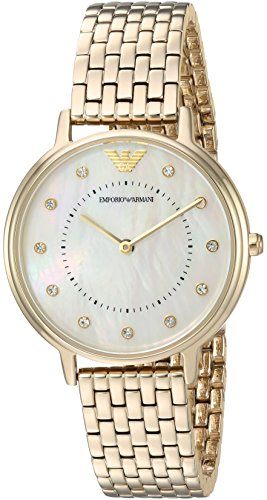 Emporio Armani Women's 'Kappa' Quartz and Stainless-Steel-Plated Casual Watch, Color:Gold-Toned (Model: AR11007)