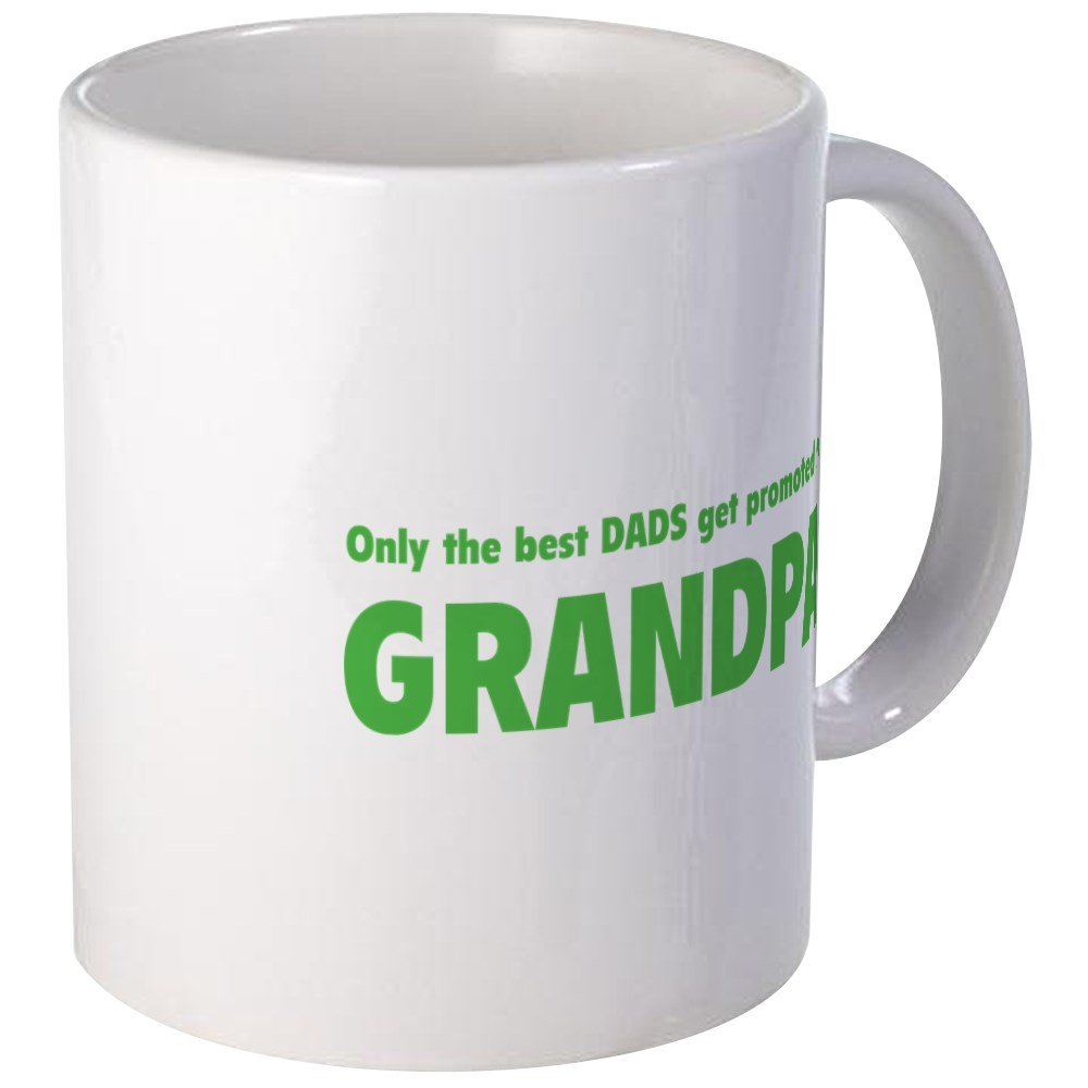 c8393e14 Amazon.com | CafePress Only The Best Dads Get Promoted To Grandpa Mug  Unique Coffee Mug, Coffee Cup: Coffee Cups & Mugs